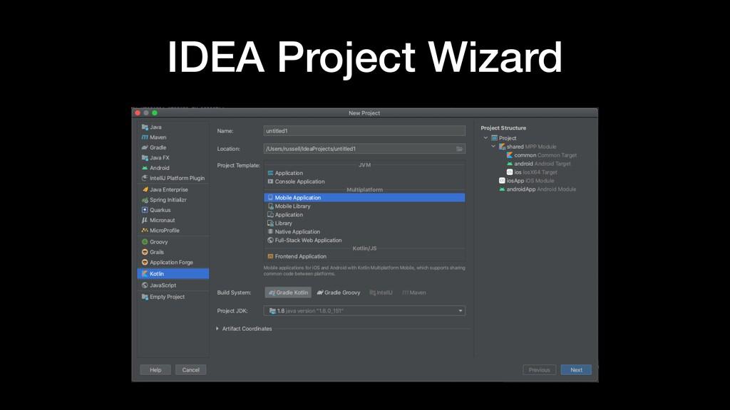 IDEA Project Wizard