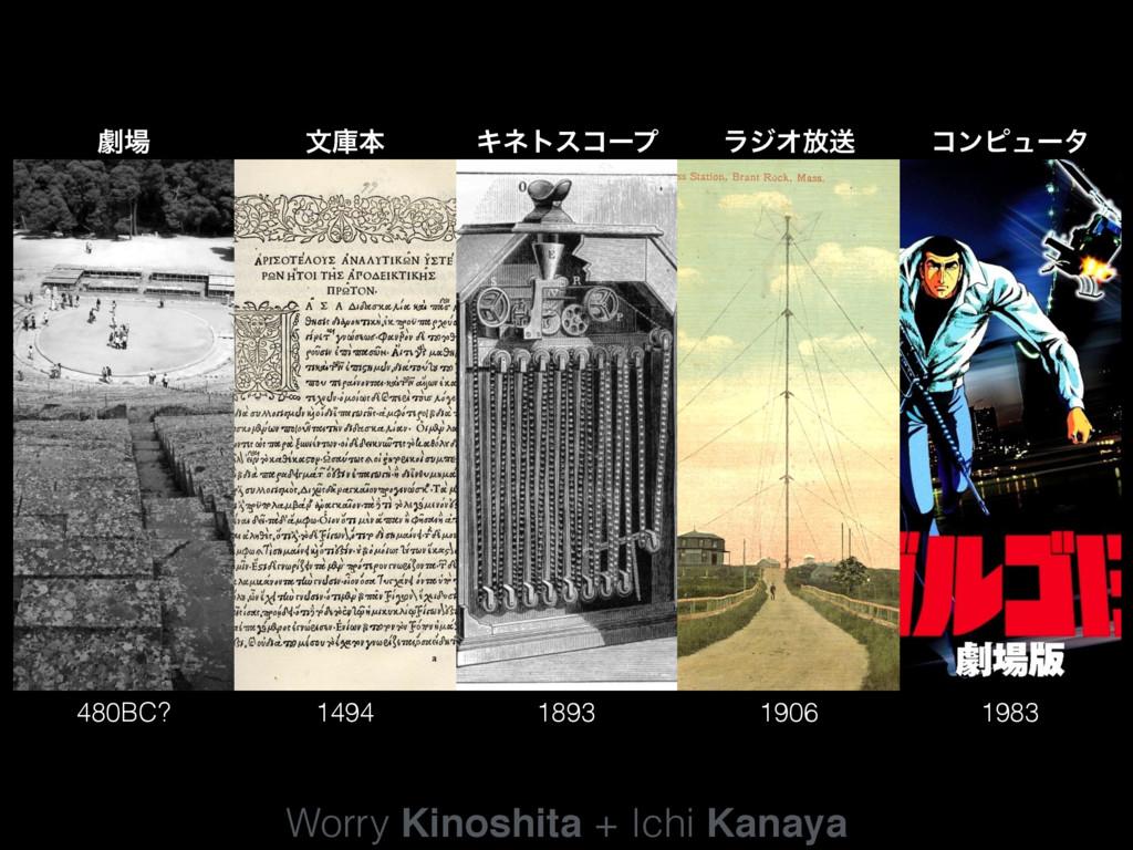 Worry Kinoshita + Ichi Kanaya 480BC? 1494 1893 ...