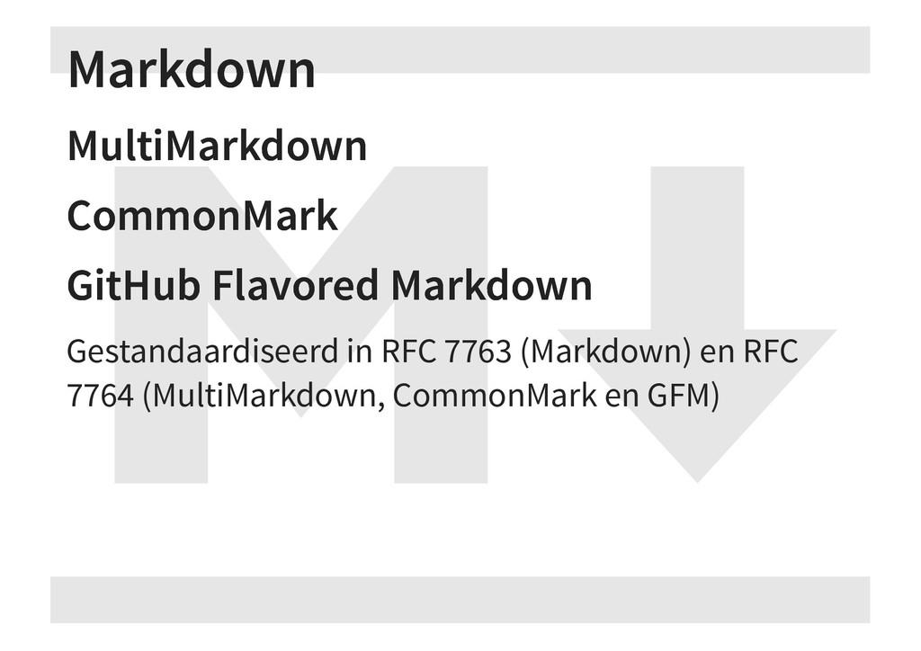 Markdown Markdown MultiMarkdown MultiMarkdown C...