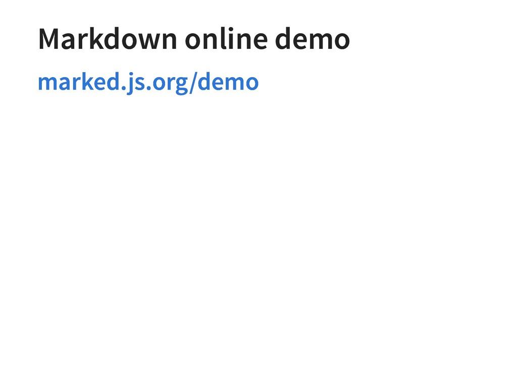 Markdown online demo Markdown online demo marke...