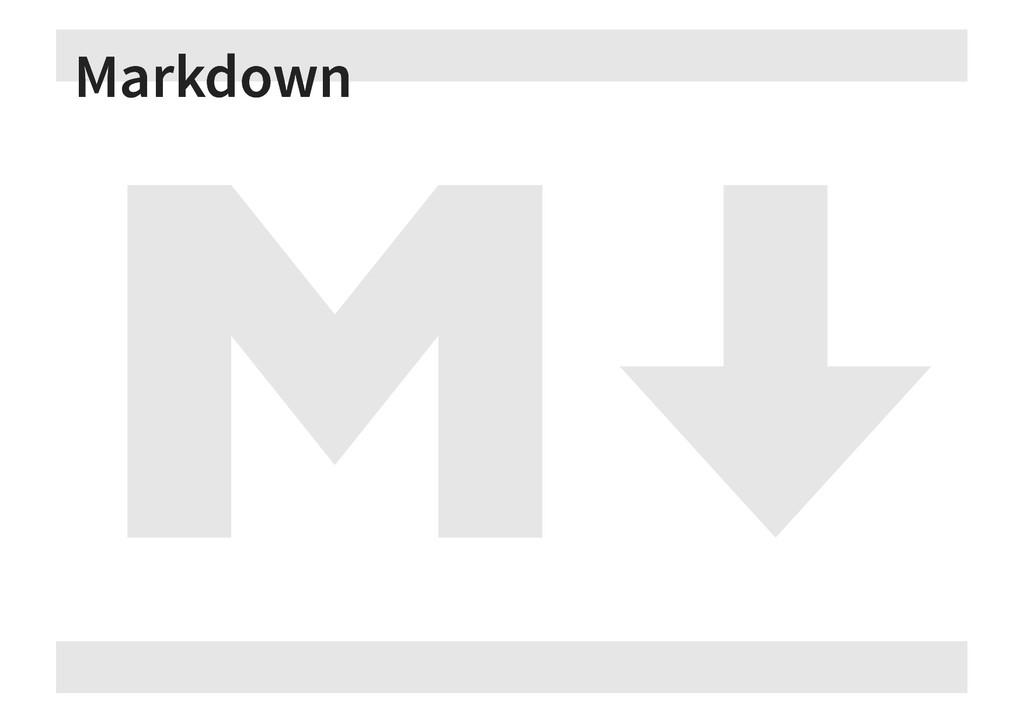 Markdown Markdown
