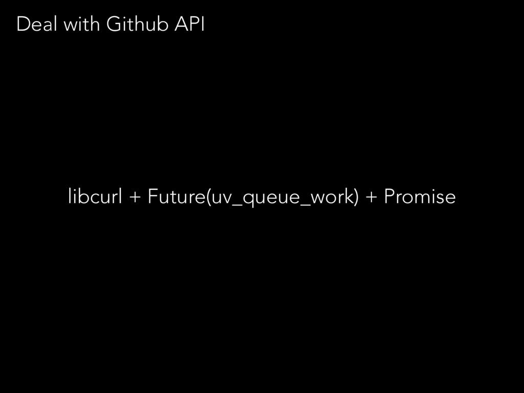 libcurl + Future(uv_queue_work) + Promise Deal ...