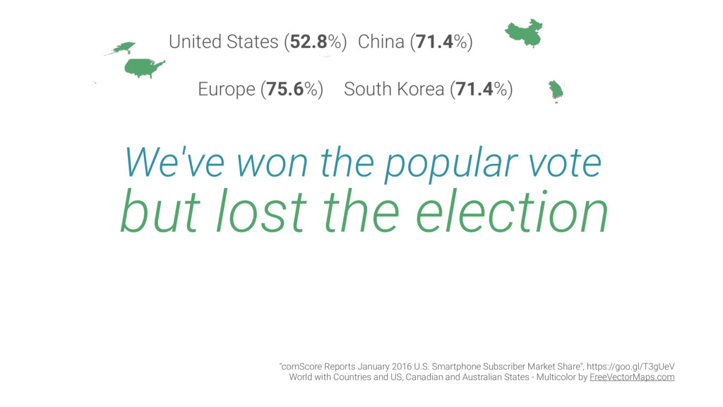 We've won the popular vote but lost the electio...