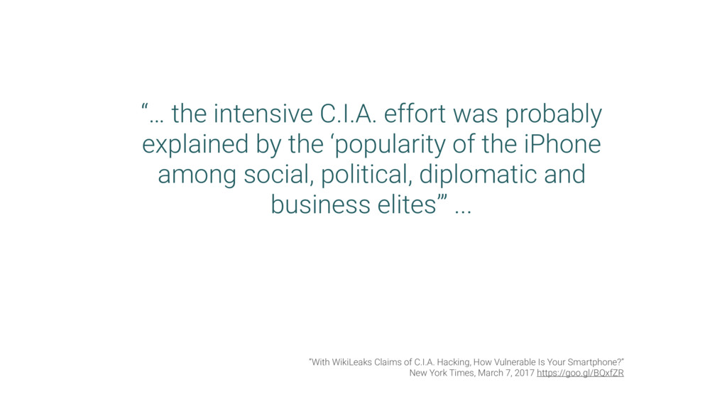 """… the intensive C.I.A. effort was probably exp..."