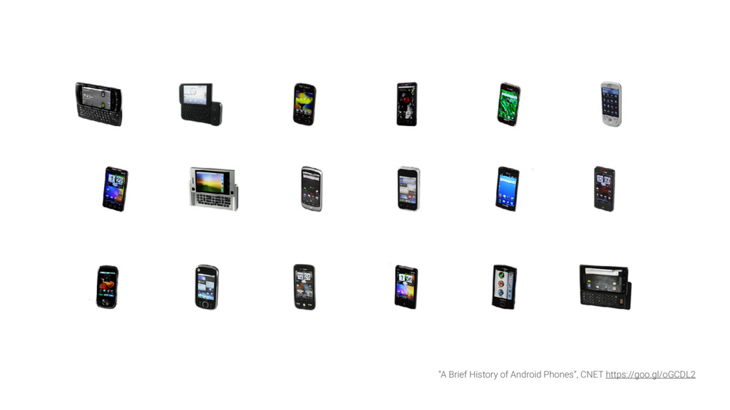 """A Brief History of Android Phones"", CNET https..."