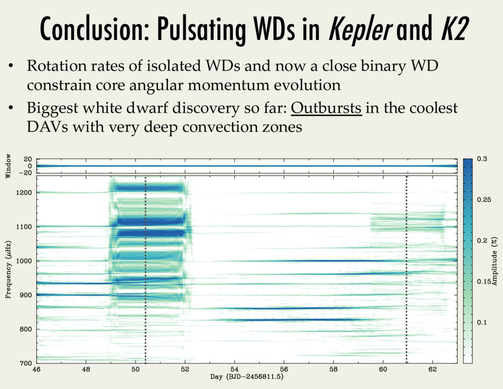 Conclusion: Pulsating WDs in Kepler and K2 • R...