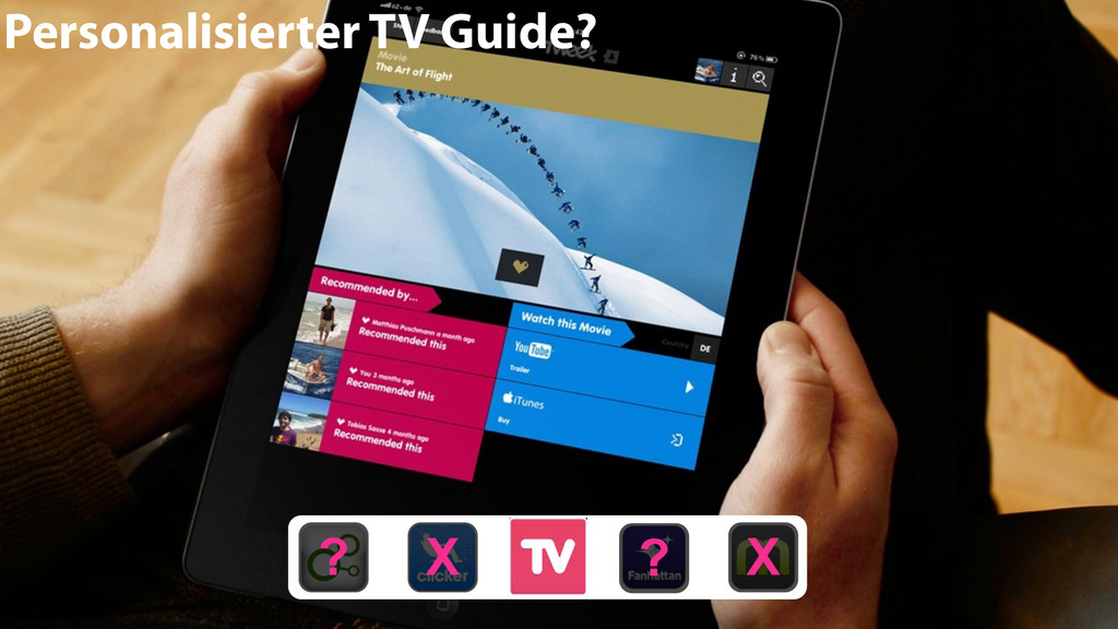 Personalisierter TV Guide? ? X X ?