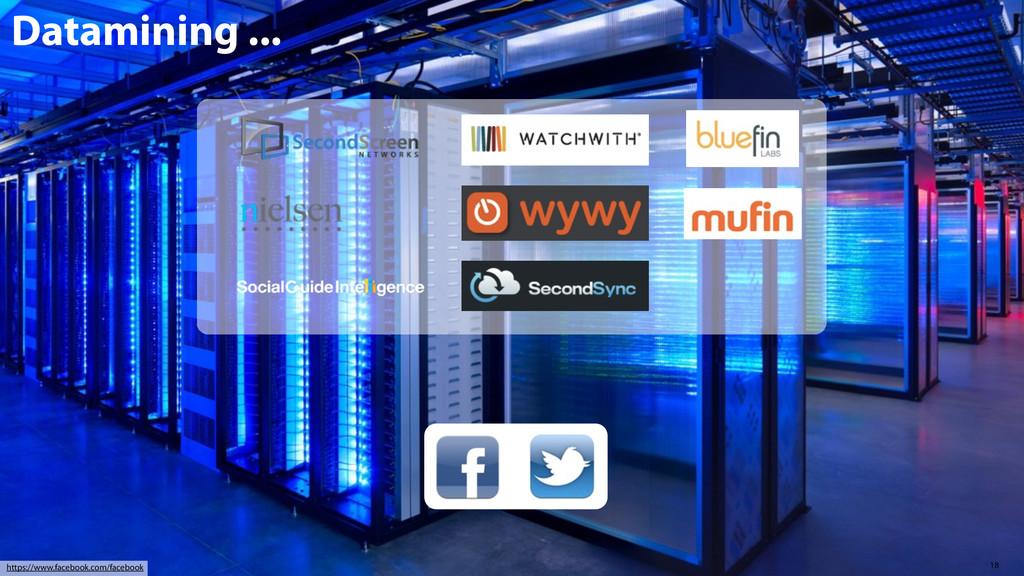 18 https://www.facebook.com/facebook Datamining...