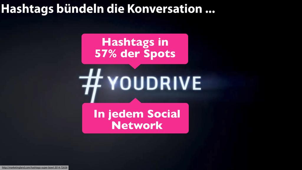 Hashtags bündeln die Konversation ... Hashtags ...