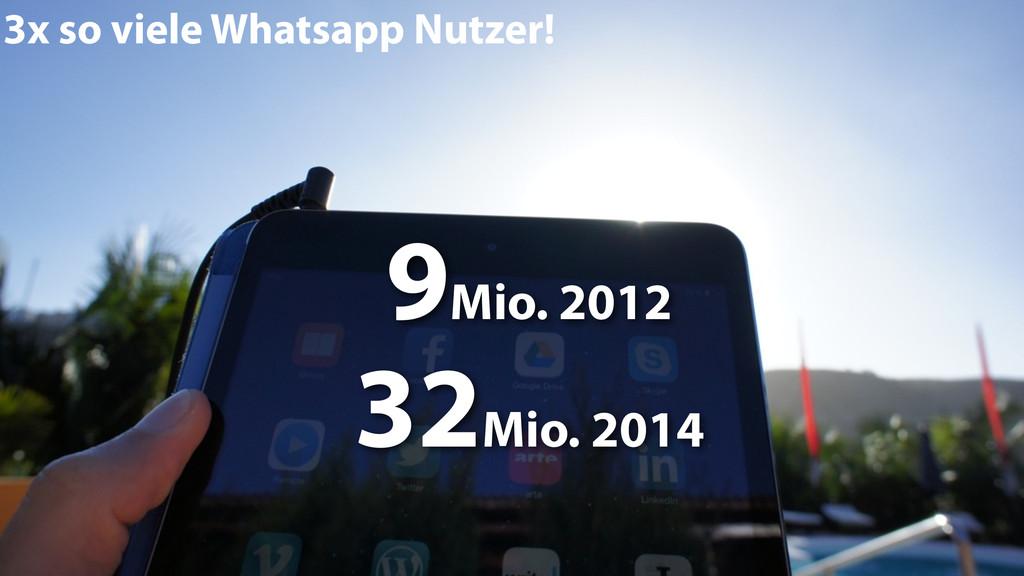 3x so viele Whatsapp Nutzer! 9Mio. 2012 32Mio. ...