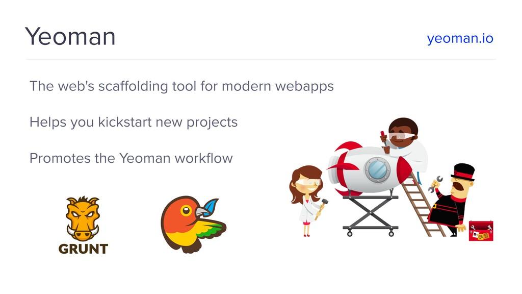 Yeoman The web's scaffolding tool for modern web...