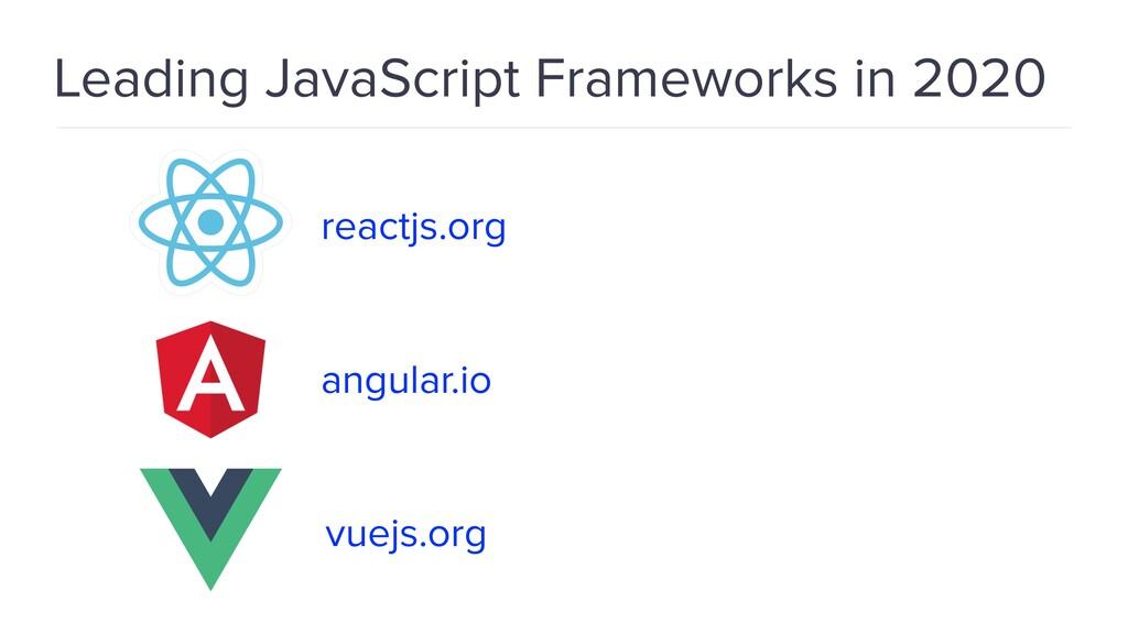 Leading JavaScript Frameworks in 2020 angular.i...