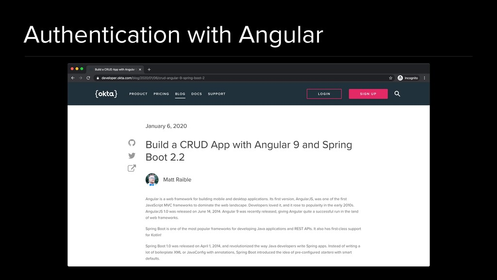 Authentication with Angular