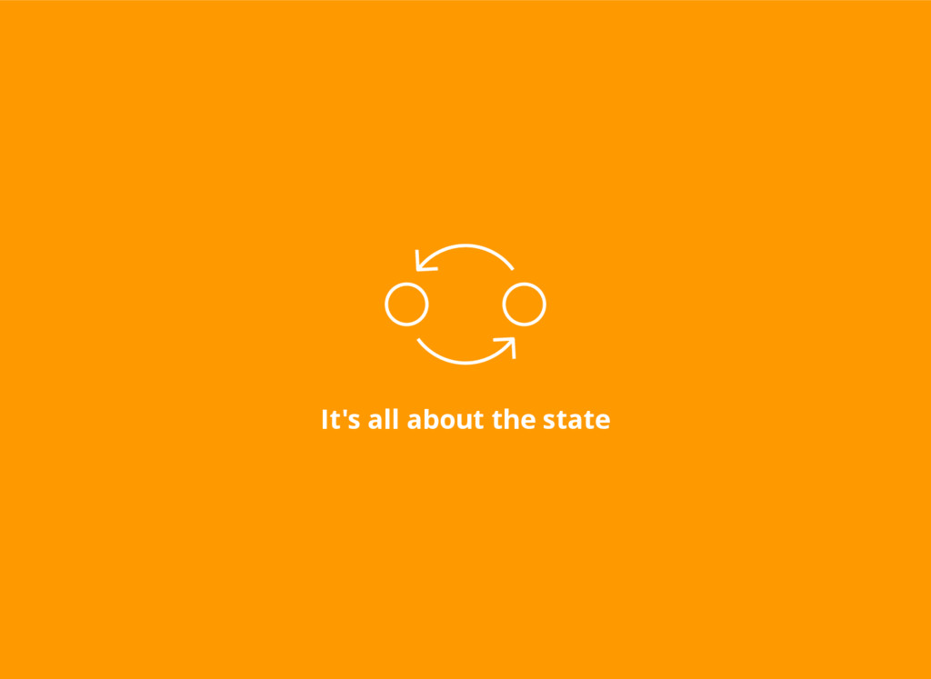 It's all about the state