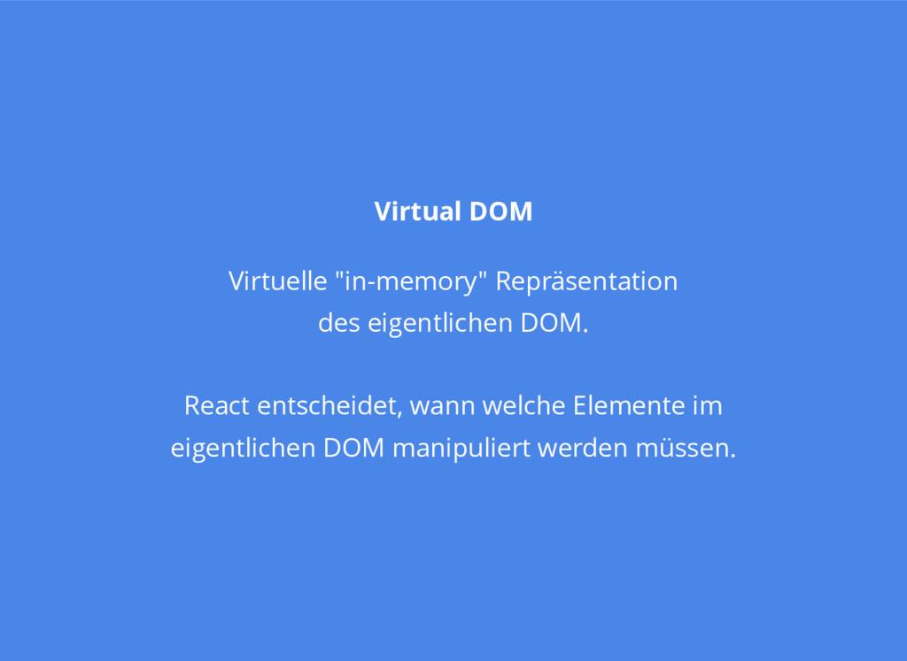 "Virtual DOM Virtuelle ""in-memory"" Repräsentatio..."