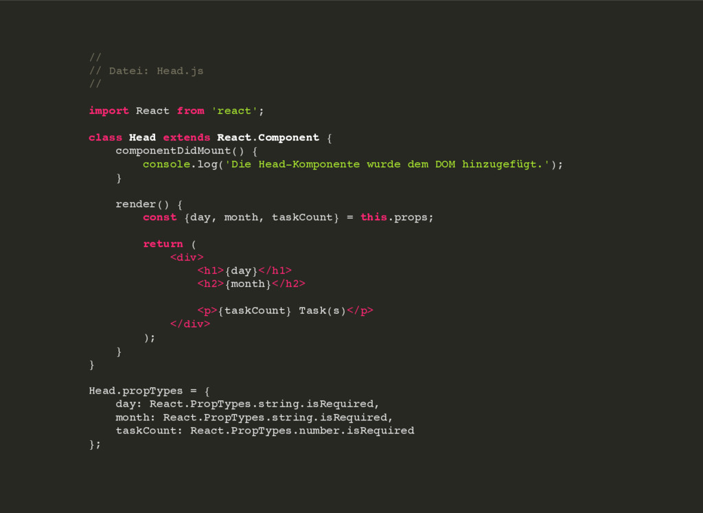 // // Datei: Head.js // import React from 'reac...