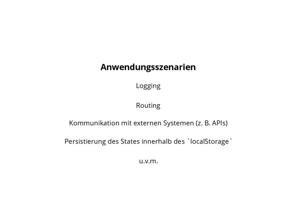 Anwendungsszenarien Logging Routing Kommunikati...