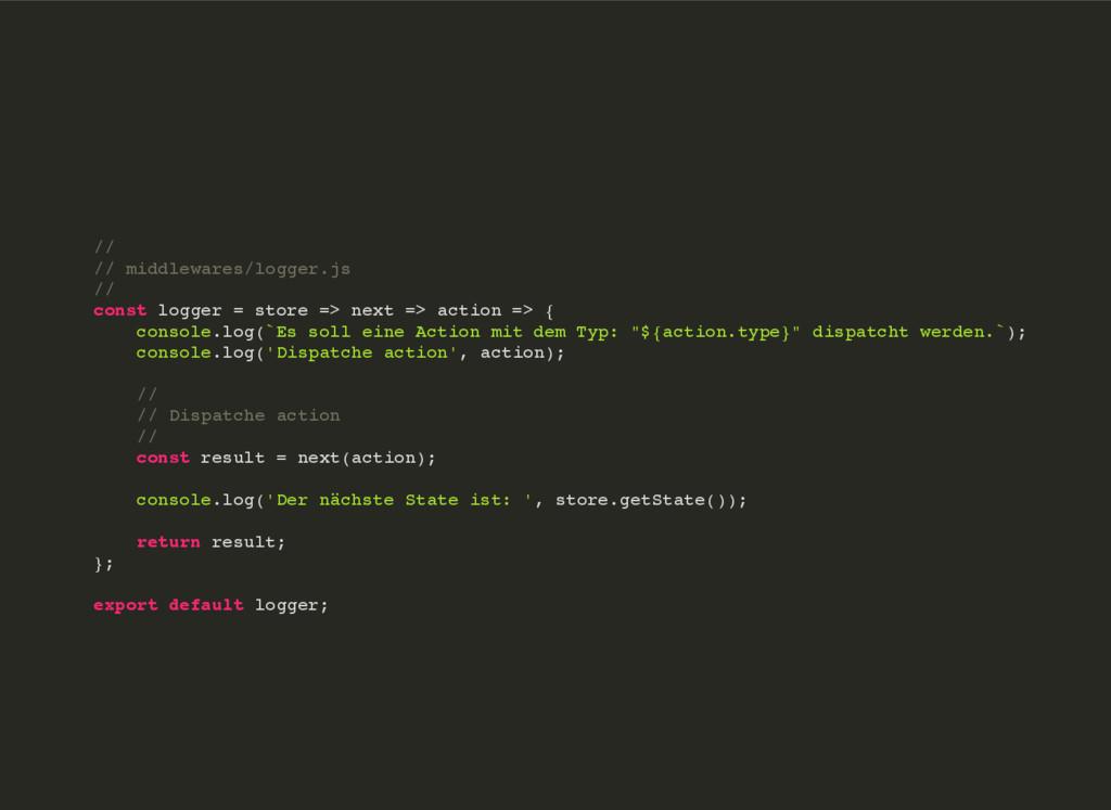 // // middlewares/logger.js // const logger = s...