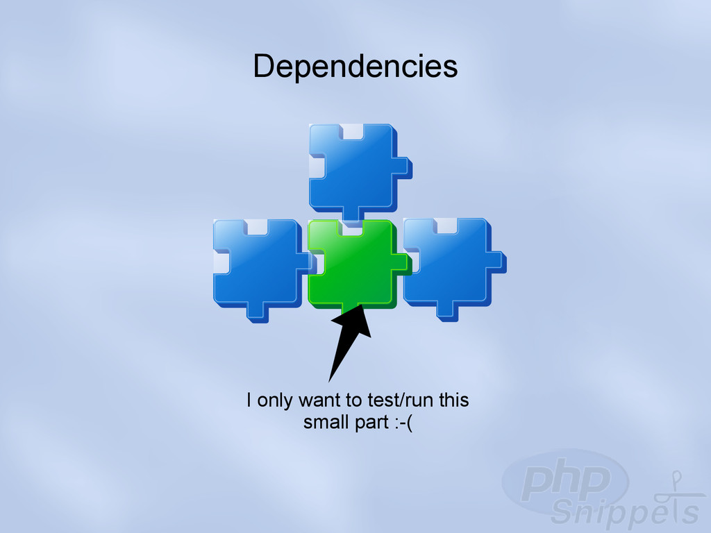 Dependencies I only want to test/run this small...