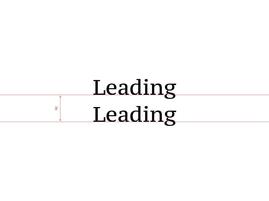 Leading Leading x