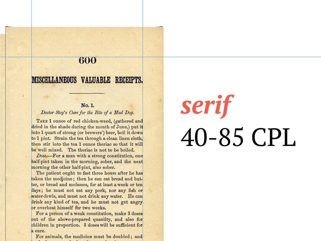 serif 40-85 CPL