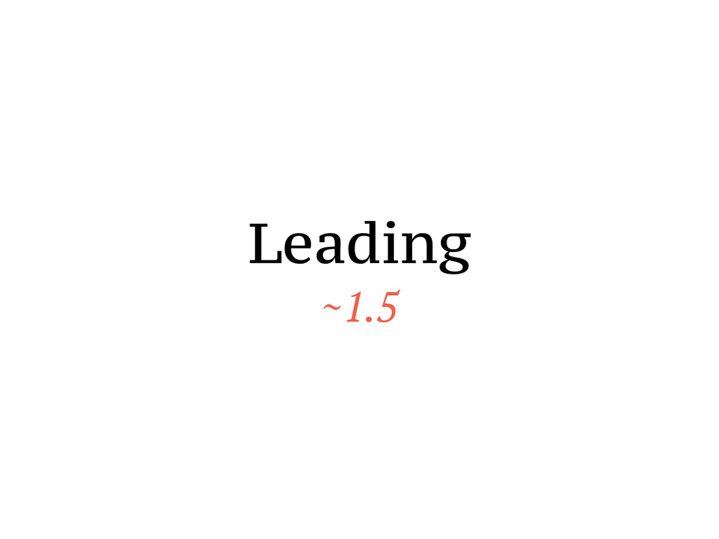 Leading ~1.5