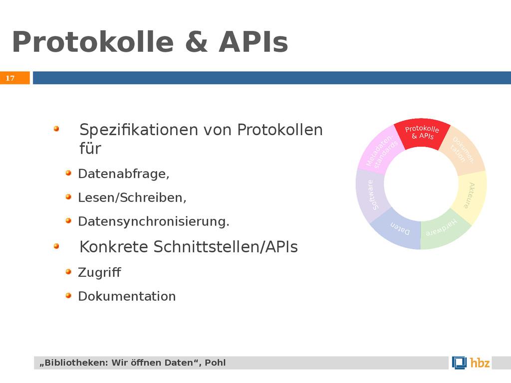 Protokolle & APIs 17 Spezifikationen von Protok...