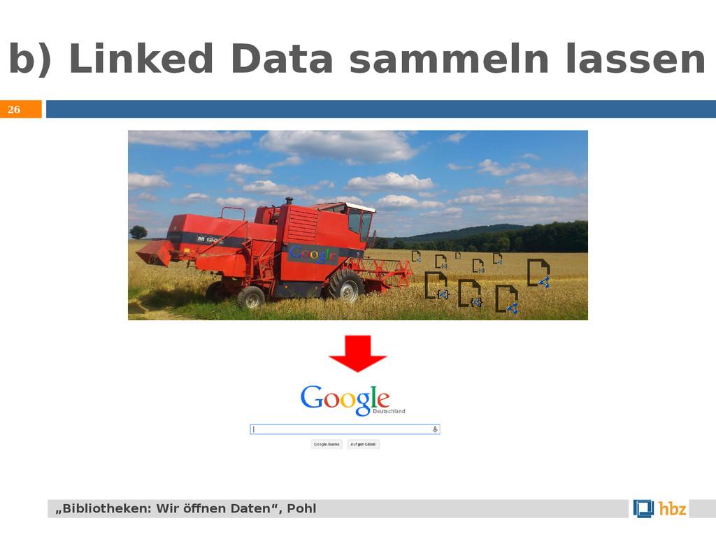 "b) Linked Data sammeln lassen 26 ""Bibliotheken:..."