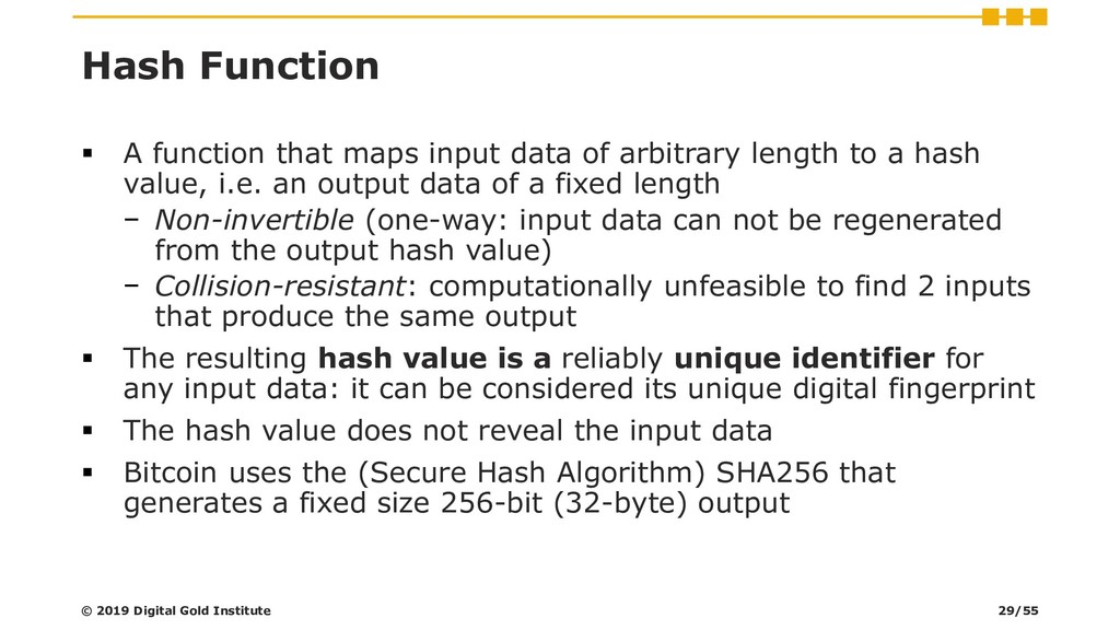 Hash Function ▪ A function that maps input data...