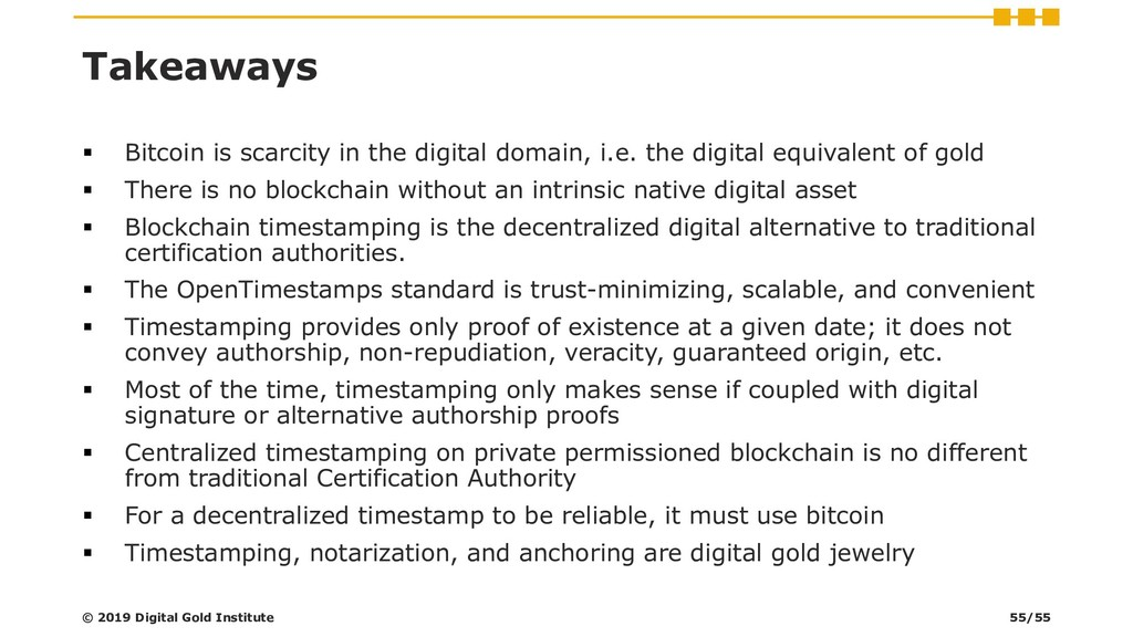 Takeaways ▪ Bitcoin is scarcity in the digital ...