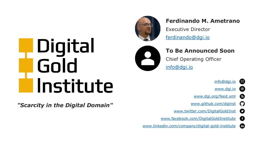Ferdinando M. Ametrano Executive Director ferdi...