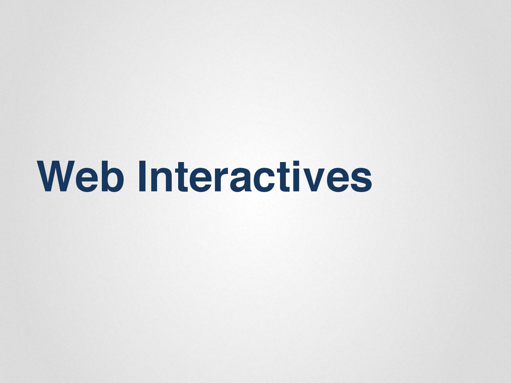 Web Interactives""