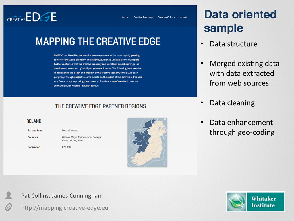 • Data structure  • Merged exisEng...