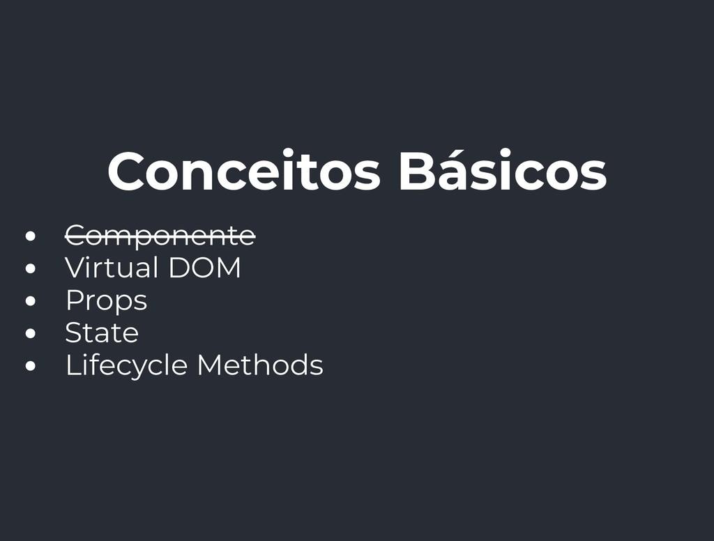 Conceitos Básicos Componente Virtual DOM Props ...
