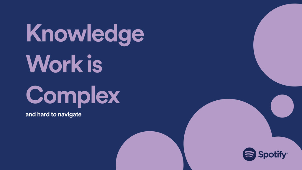 Knowledge Work is Complex and hard to navigate