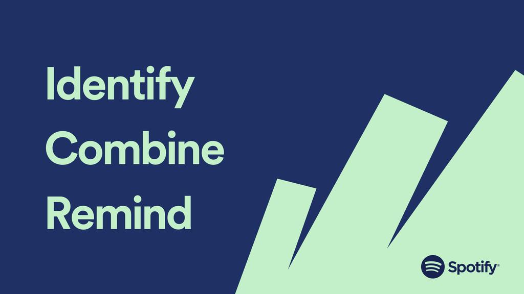 Identify Combine Remind