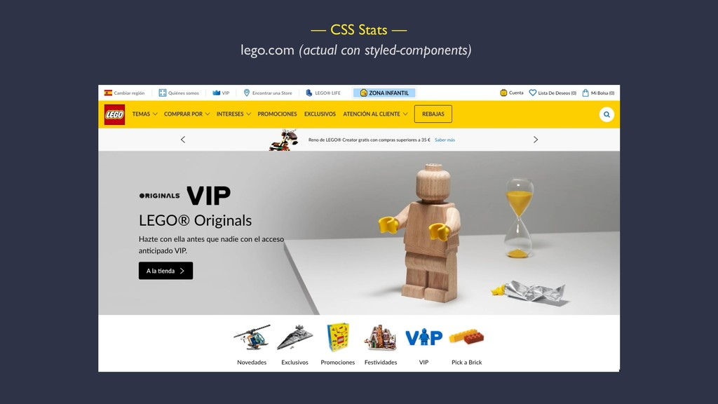 — CSS Stats — lego.com (actual con styled-compo...