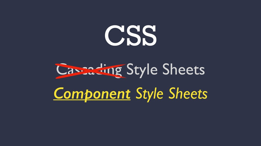 CSS Cascading Style Sheets Component Style Shee...