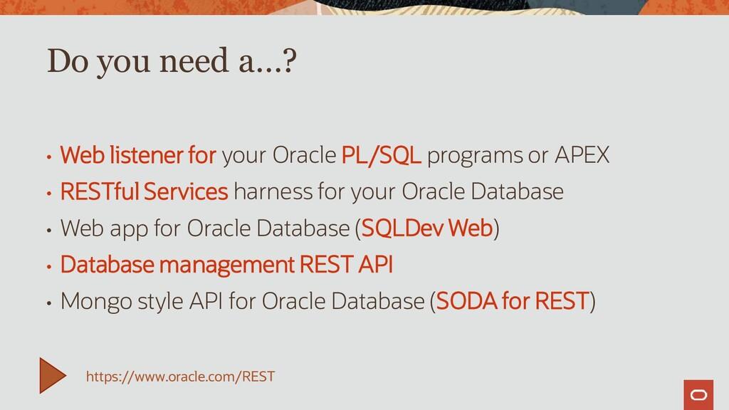 • Web listener for your Oracle PL/SQL programs ...