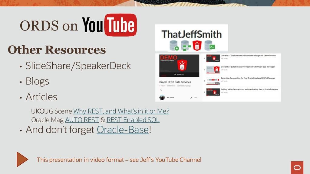• SlideShare/SpeakerDeck • Blogs • Articles UKO...