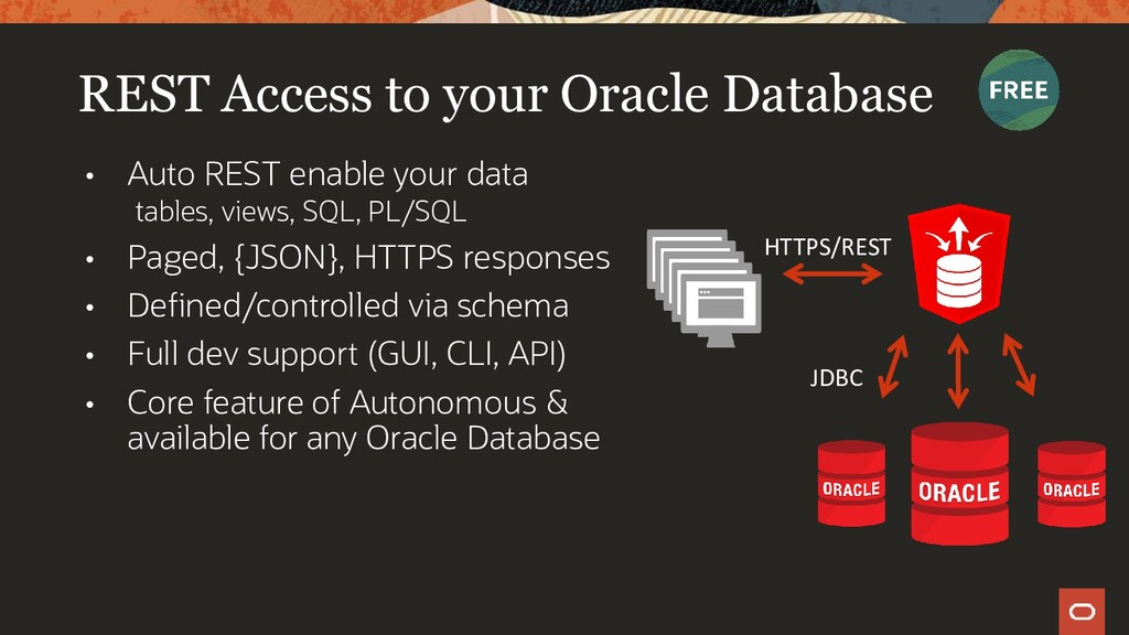 • Auto REST enable your data tables, views, SQL...