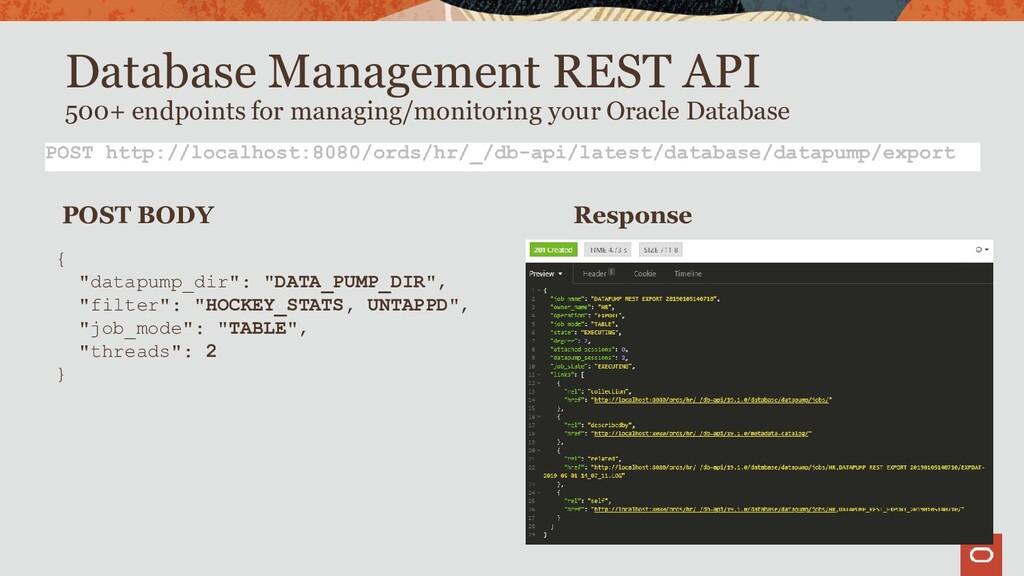 Database Management REST API 500+ endpoints for...