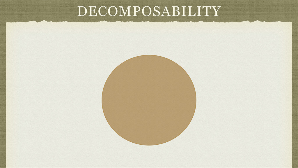 DECOMPOSABILITY
