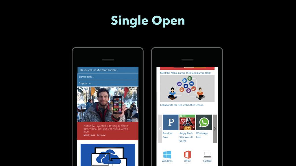 Single Open