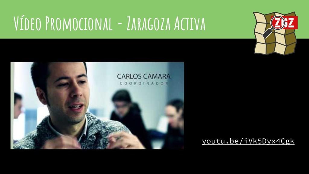 Vídeo Promocional - Zaragoza Activa youtu.be/iV...