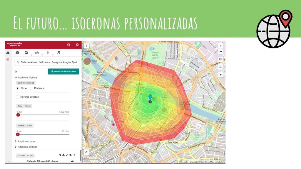 El futuro… isocronas personalizadas