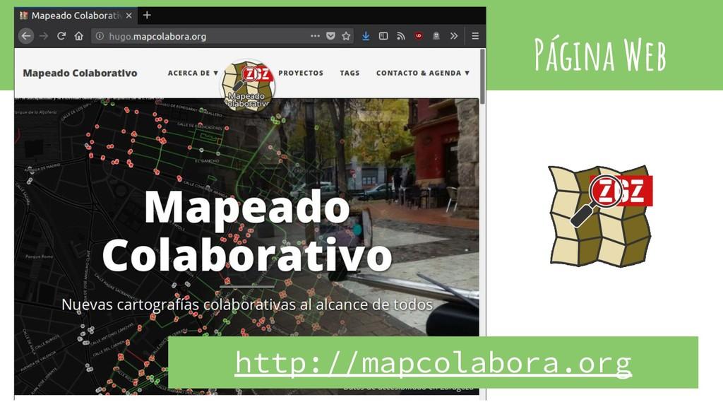 Página Web http://mapcolabora.org