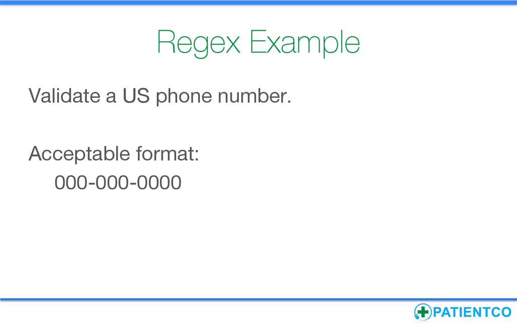 Regex Example