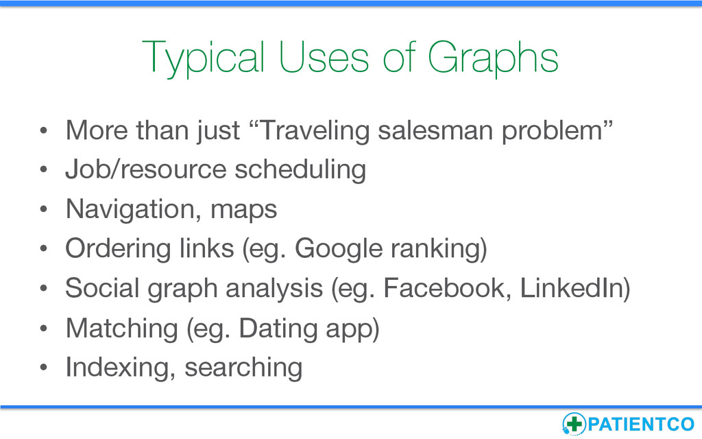 Typical Uses of Graphs