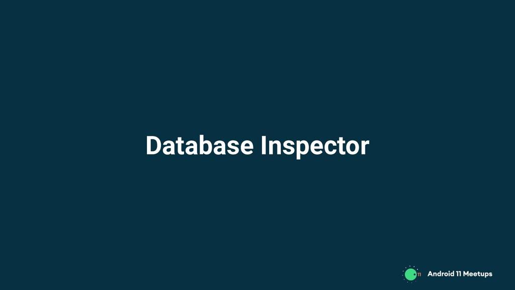 Database Inspector